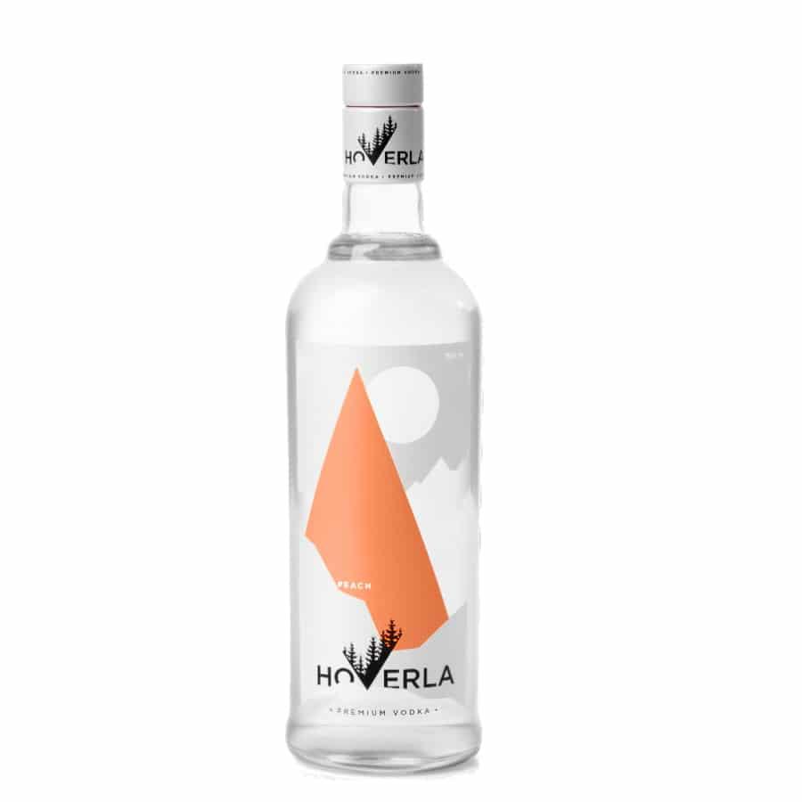 visuel vodka Hoverla peach
