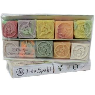 Tres Spa Gift Organic Soap Button Box