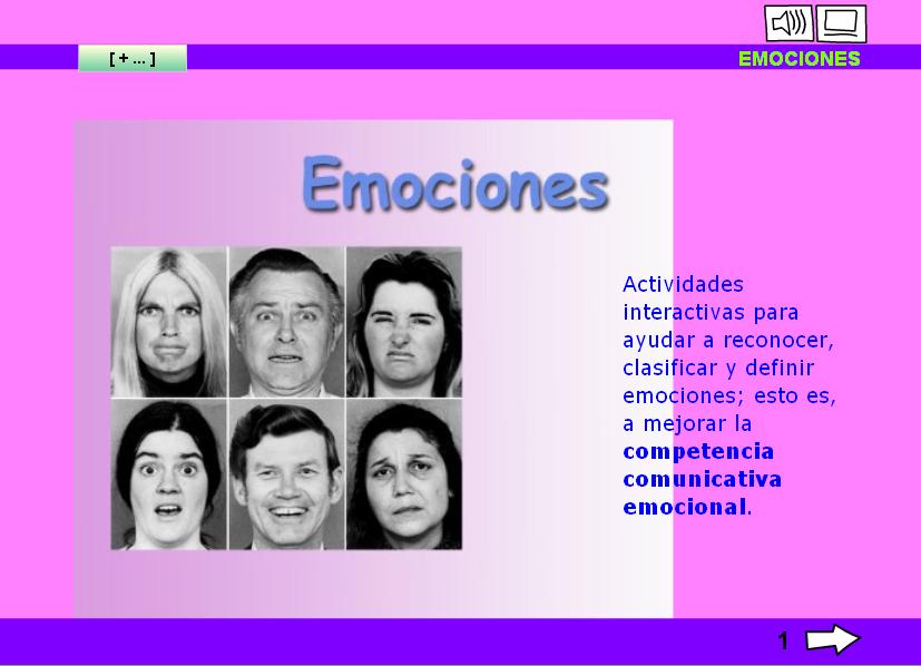 Reconocer y expresar emociones, sensaciones, sentimientos... (2/2)