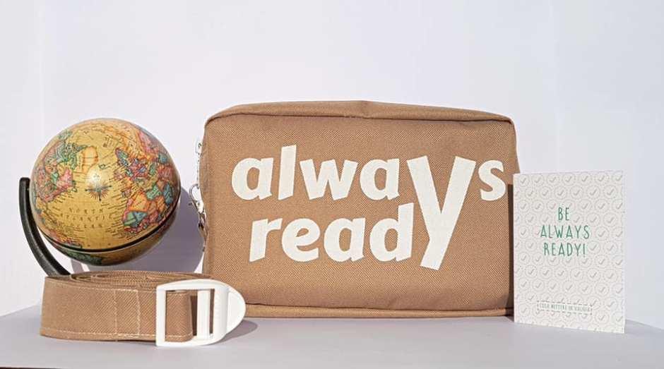 Alwaysready, kit viaggiatori, indispensabili in viaggio, trevaligie