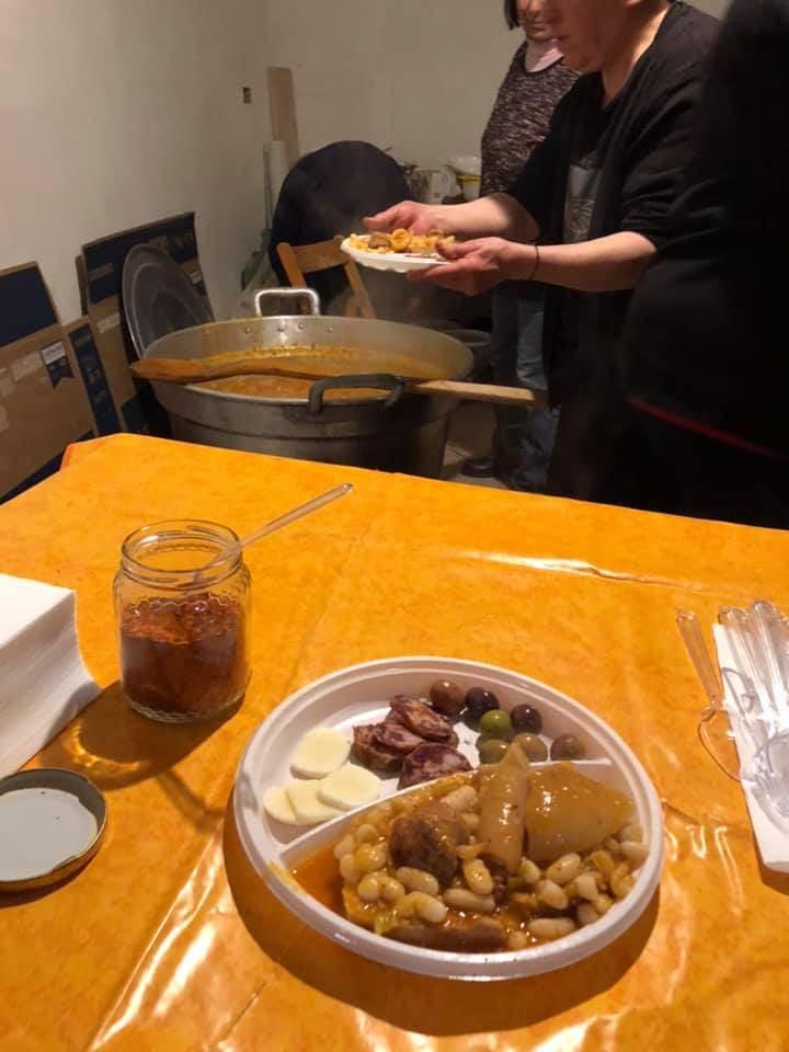 Fuochi di San Giuseppe, Itri, Gastronomia e tradizione, Trevaligie