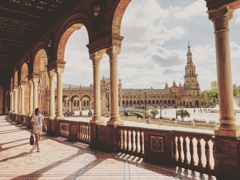 Plaza de espana, siviglia, viaggio on the road in spagna, trevaligie
