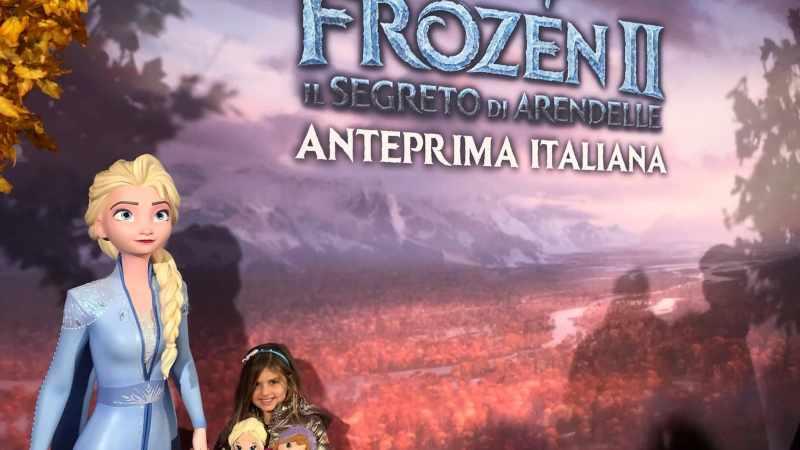 Frozen 2. Anteprima nazionale a Roma, con il cast del film.