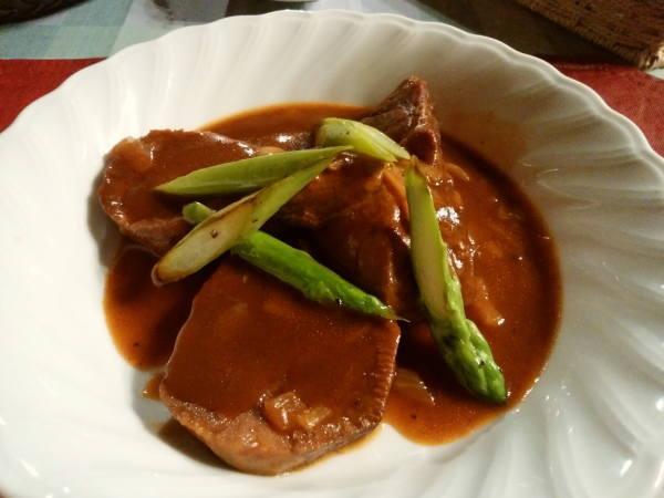 13日 八丈島 夕食の料理 タンシチュー