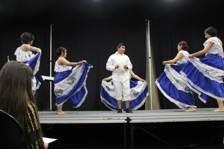 50Tres Girls performed a dance from El Salvador