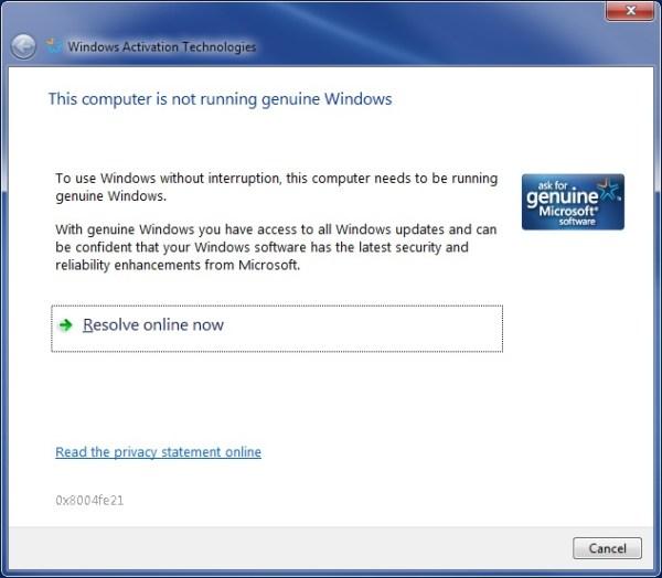 Genuine Windows - Windows Activation Technologies