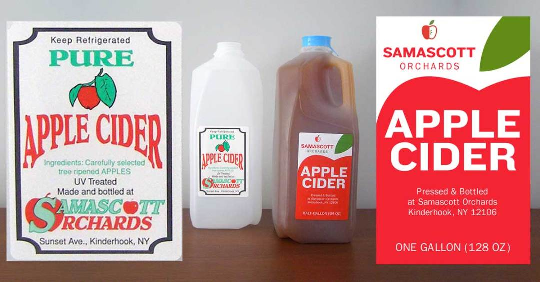 Redesigned Apple Cider Label
