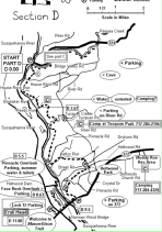 trail map of the Conestoga Trail with the cave labeled