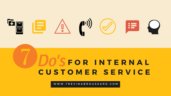 7 Do's for internal customer service
