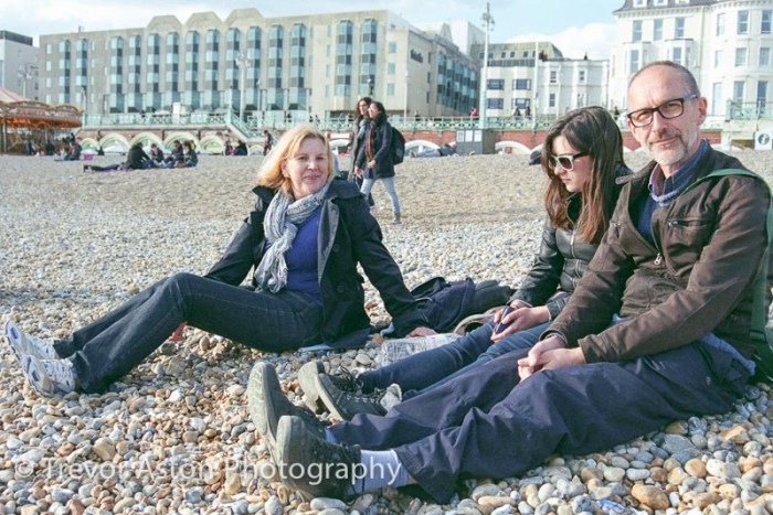 family photography on the beach at Brighton