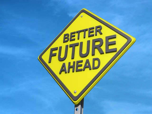 Better Future Ahead Yield Sign