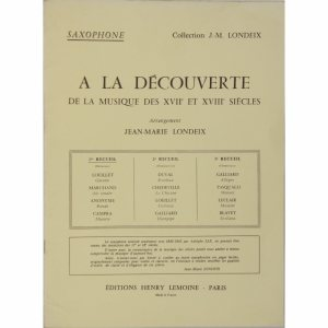 A La Decouverte Vol 1 Alto Sax