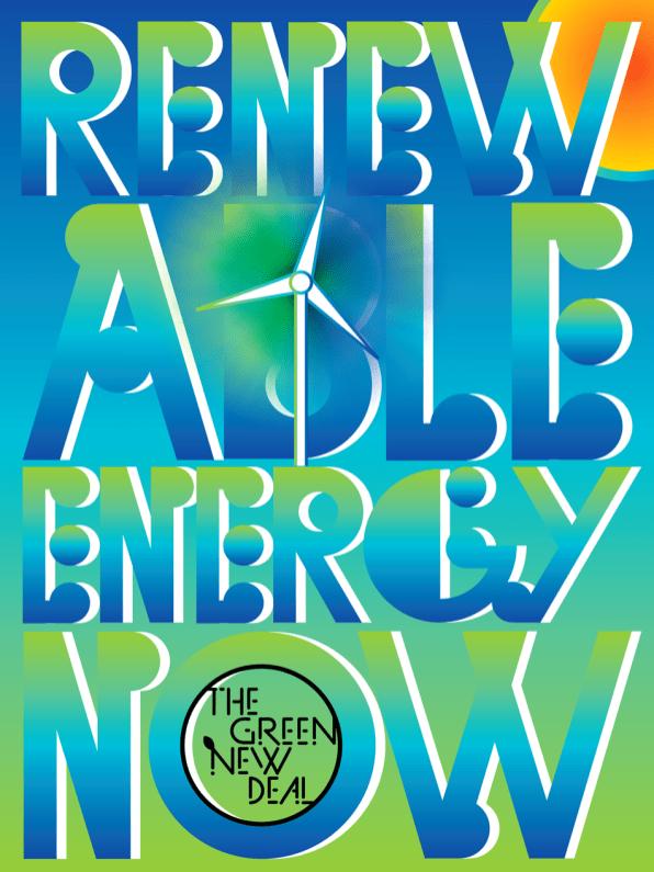 """Renewable Energy Now"" Poster"
