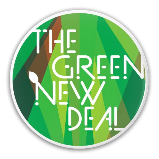 """""""The Green New Deal"""" Button"""
