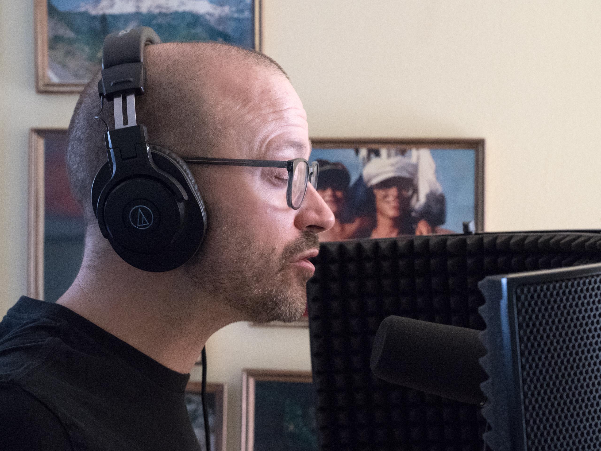 Trevor Ras in studio