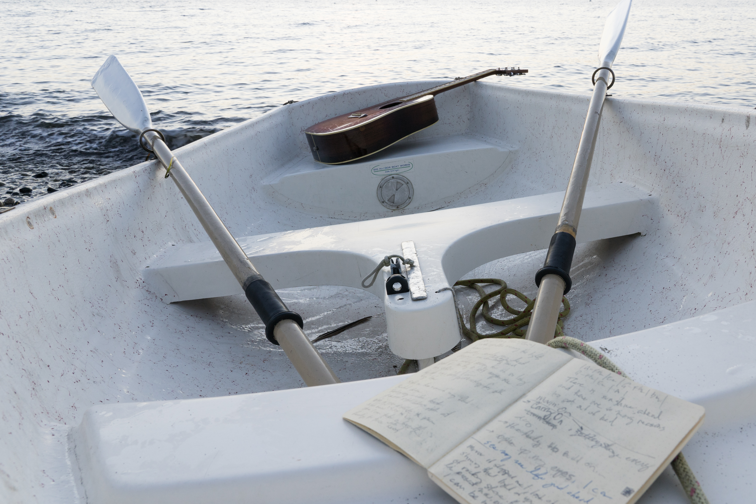 row boat with guitar