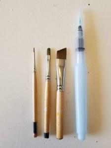 Three Custom Brushes and Water Brush