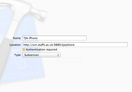 Configuring a subversion host using Xcode 4