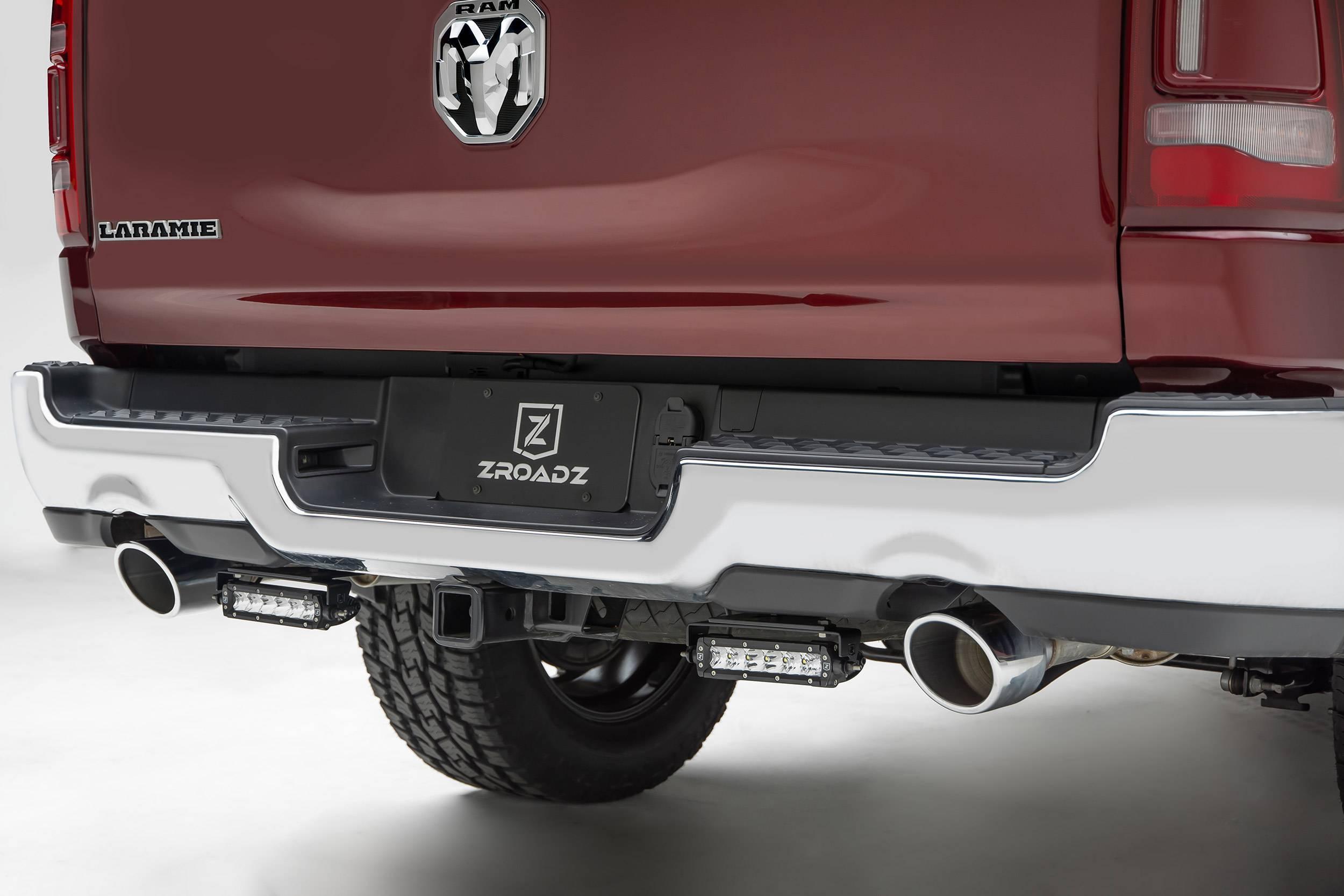 2019 2021 ram 1500 rear bumper led bracket to mount 2 6 inch straight single row light bar pn z384821