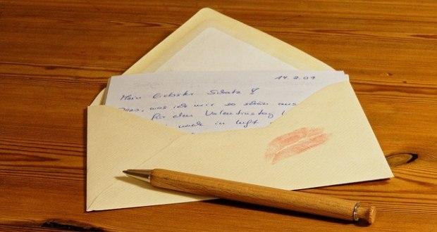 съпругата криела писмо