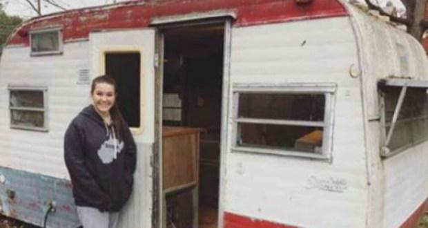 14-годишно момиче си купи стара каравана! Това, което направи по-късно с нея, накара всички да й се възхищават (СНИМКИ)