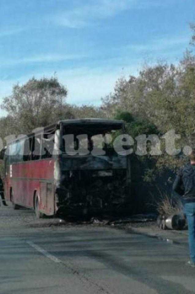 Проговори шофьорът на рейса с работници, пламнал като факла на Е-79 (СНИМКИ/ВИДЕО)