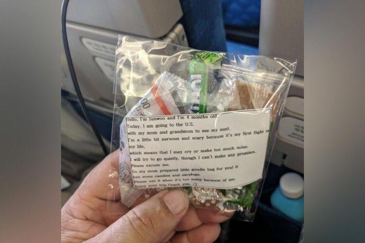 майка трогна пътниците в цял самолет