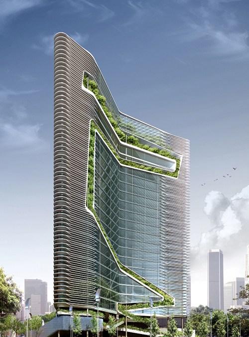 green architect vertical lanscaping design for spire edgen for