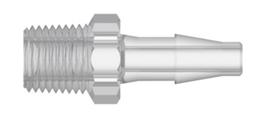 Dental Fitting – Hose adaptor Nylon – 1/8″ NPT male to 1/16″ hose barb