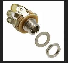 Connectors (Female) – 1/4″/6.35mm Mono Socket – Pannel Mount