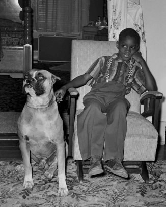 9 – A boy and his dog.