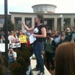 IN PRINT: UNCG students and faculty stage walkout, disrupt trustees meeting