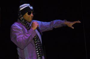 Kool Keith, like Elvis, favors scarves.