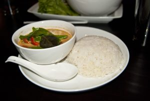 The pranang curry with chicken
