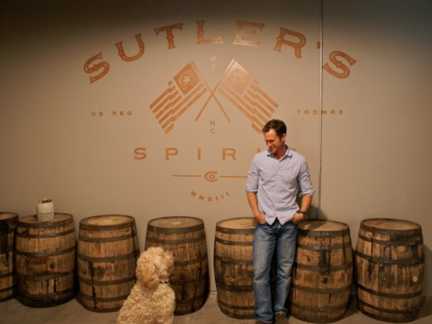 Scott Sanborn opened Sutler's Spirits, the first legal distillery in Winston-Salem in 200 years, in 2014.
