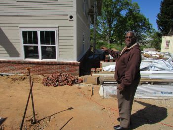 HAWS CEO Larry Woods visits the Camden Station development.