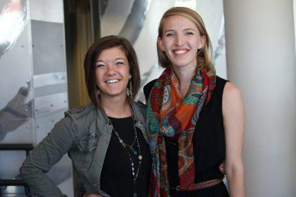 Winners Kayla Hammer (left) and Kathryn Jeffords of Elon University.