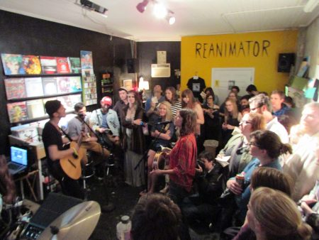 Lowland Hum at Reanimator Records (Jordan Green)