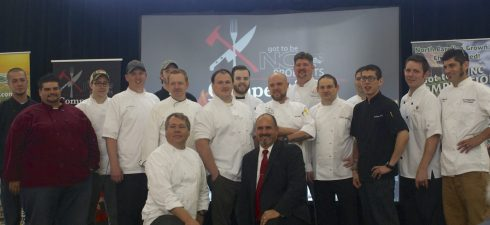 The chefs (front right: Jimmy Crippen)