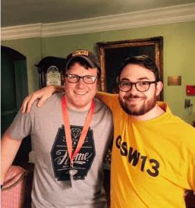 """Zach Ward, left, and Matt """"Chuckles"""" Evans"""