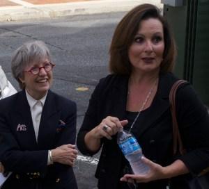 Councilwoman Nancy Hoffmann (left) and Mayor Nancy Vaughan