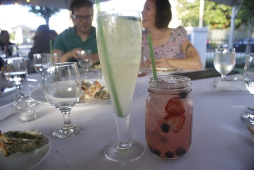 Two specialty cocktails