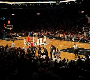 My view at the Barclays.