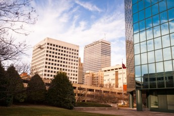The arms race that is the downtown Winston-Salem cityscape is a history lesson writ large in the sky.