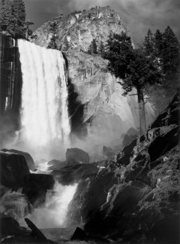 Ansel Adams (1902-1984); Vernal Fall, Yosemite Valley, California; ca. 1948, printed 1963; Gelatin silver print; Amon Carter Museum of American Art, Fort Worth, Texas; P1966.11.6