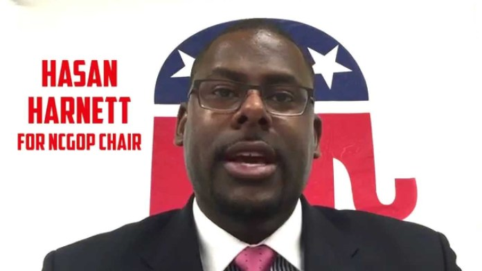 Hasan Harnett, the first black chair of the NCGOP, was censured this week by the party.