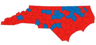 North Carolina electoral map, 2016