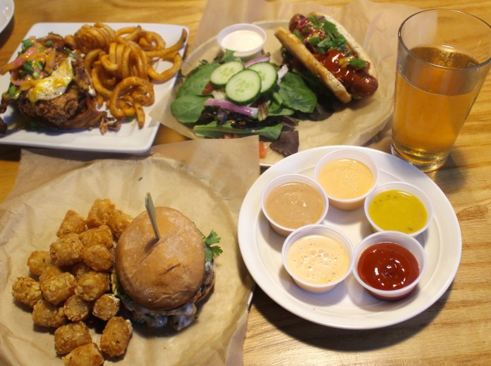 table-full-of-food-at-bites-and-pints-in-greensboro