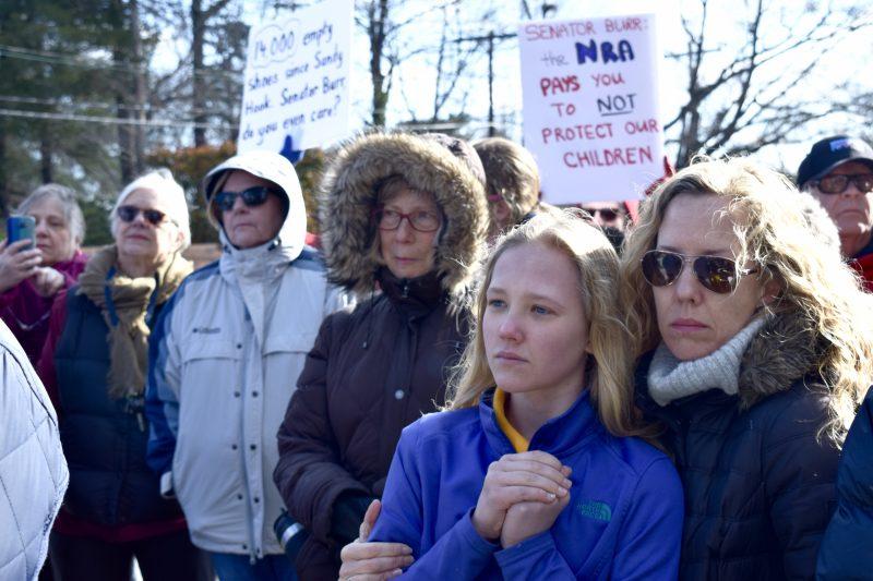 senator-richard-burr-protest-national-walkout-day-gun-violence-schol-shooting-parkland