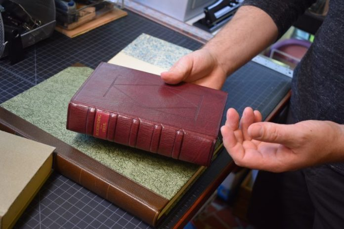 gerald-ward-bibliopathologist-bookbinding-leather